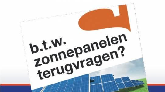 Vraag btw op zonnepanelen snel terug !